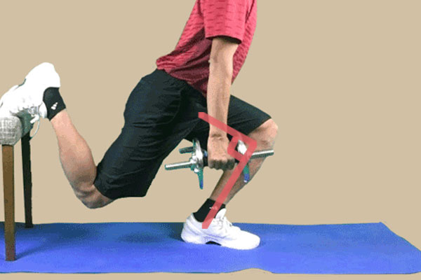 ブルガリアンスクワットは前膝が90度の位置で停止させる