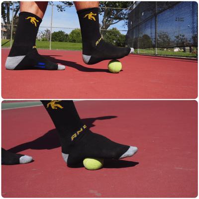 テニスボールで足底筋膜炎を予防する筋膜リリース
