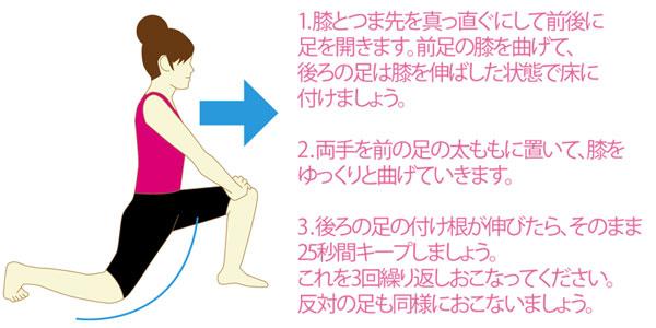 骨盤の前傾を矯正する腸腰筋のストレッチ