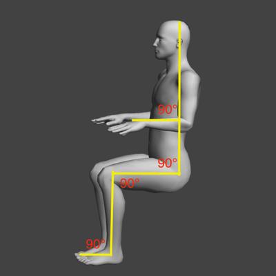 パソコン作業中に姿勢が悪くならない90°ルール