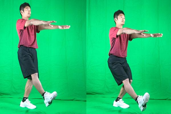 片足スクワットの実践方法
