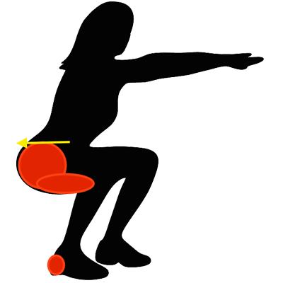 踵重心を意識することでヒップアップ効果がさらに高まる