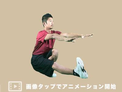 片足スクワットの実践方法をアニメーション画像で解説
