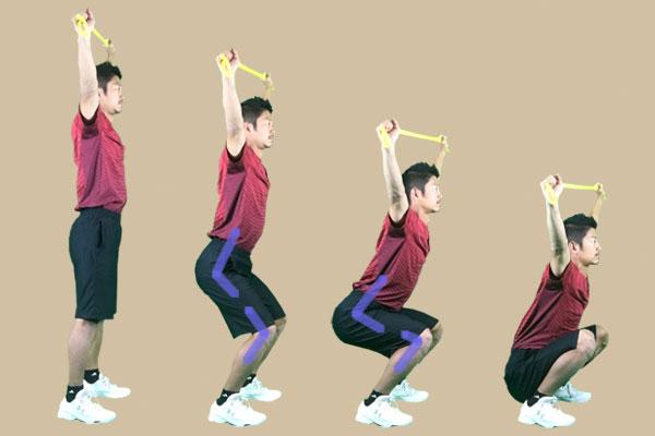 股関節と膝の両方を曲げる