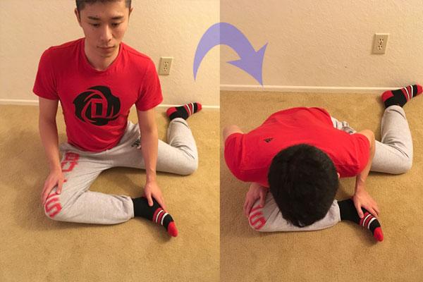 臀筋群のストレッチを行うことで股関節の可動域を広げていくためのストレッチ方法(上級編)