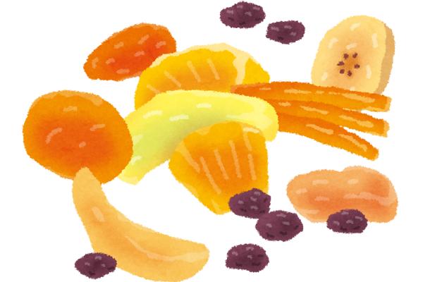 ドライフルーツで食欲対策