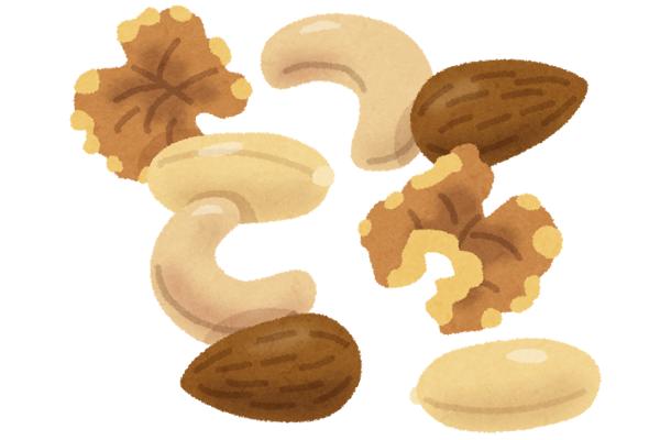 ヘルシーで生理前の食欲をコントロールに役立つナッツ類