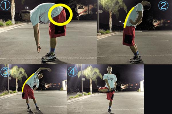 腰→腹筋→体側→お尻:下半身のダルさ疲れ対策ストレッチ手順