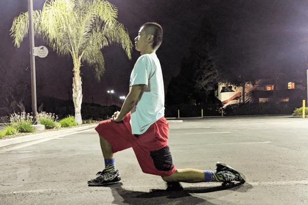 腸腰筋と大腿四頭筋ストレッチ1