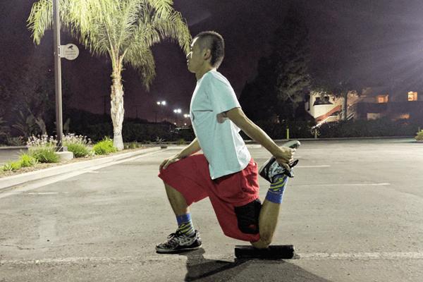 腸腰筋と大腿四頭筋ストレッチ2