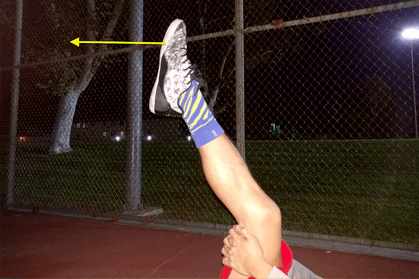 ふくらはぎストレッチ:足首の動き1