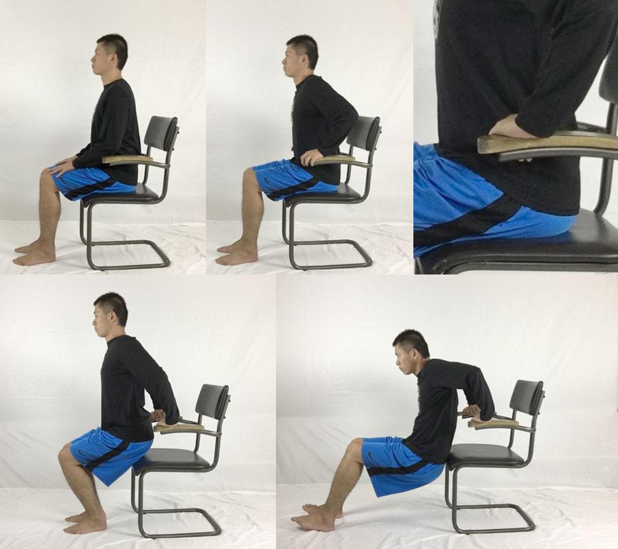 椅子を使ったストレッチは三角筋、大円筋、小円筋、広背筋、大胸筋、小胸筋、上腕二頭筋をほぐす
