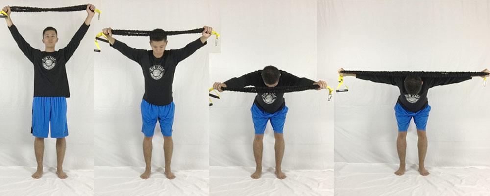 トレーニングチューブを使ったベントオーバープルで肩こりを根本解決する筋トレ方法の画像