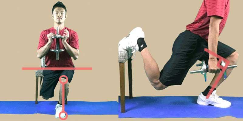 ブルガリアンスクワットの注意点は、骨盤の左右傾きと膝の角度
